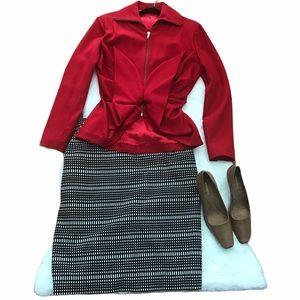 Jones Studio Separates Black & White Pencil Skirt